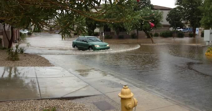 Flooded Phoenix Street